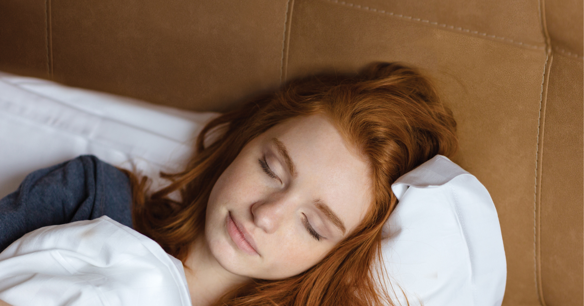 Ginger woman asleep